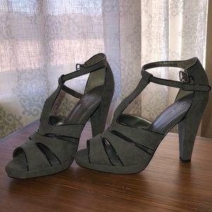 Ann Taylor Loft grey heels